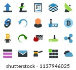 colored vector icon set  ... | Shutterstock .eps vector #1137946025