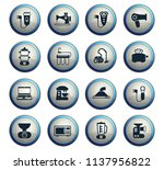 home appliances vector icons... | Shutterstock .eps vector #1137956822