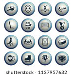 hockey vector icons for web and ... | Shutterstock .eps vector #1137957632