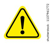 danger sign. attention sign... | Shutterstock .eps vector #1137961772