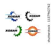 set of gear logo template...   Shutterstock .eps vector #1137962762