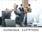successfull business people... | Shutterstock . vector #1137973202