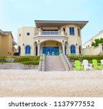 villa on the beach | Shutterstock . vector #1137977552