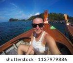travel summer holiday concept... | Shutterstock . vector #1137979886