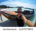 travel summer holiday concept... | Shutterstock . vector #1137979892