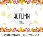 big autumn sale vector... | Shutterstock .eps vector #1137983615