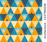 abstract cheerful and warm... | Shutterstock .eps vector #1137984038