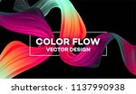 modern colorful flow poster.... | Shutterstock .eps vector #1137990938