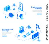 cryptocurrency exchange and... | Shutterstock .eps vector #1137994502