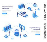 cryptocurrency exchange and... | Shutterstock .eps vector #1137994505