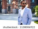 portrait of sexy handsome... | Shutterstock . vector #1138006922