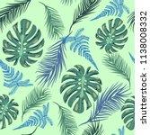 vector background tropical... | Shutterstock .eps vector #1138008332