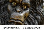 A Close Up On A Statue Of...