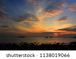 a fisherman is coming home... | Shutterstock . vector #1138019066