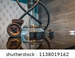 new glass hookah with beautiful ... | Shutterstock . vector #1138019162