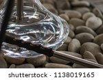 new glass hookah with beautiful ... | Shutterstock . vector #1138019165