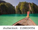 thailand longtail boat bay... | Shutterstock . vector #1138024556