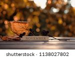beautiful autumn composition.... | Shutterstock . vector #1138027802