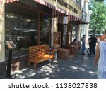 exterior cafes on the street... | Shutterstock . vector #1138027838