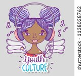 youth culture millenial woman... | Shutterstock .eps vector #1138028762