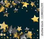horizontal border from confetti ... | Shutterstock .eps vector #1138031255
