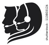 headset symbol  call center... | Shutterstock .eps vector #113803126