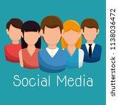 social media community...   Shutterstock .eps vector #1138036472