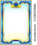 vintage frame border for... | Shutterstock .eps vector #1138039886