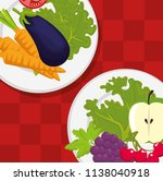 healthy food menu icons | Shutterstock .eps vector #1138040918