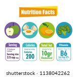 healthy food with nutritional... | Shutterstock .eps vector #1138042262