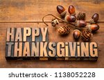 happy thanksgiving greeting... | Shutterstock . vector #1138052228