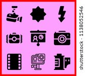 simple icon set of camera... | Shutterstock .eps vector #1138052546