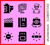 simple icon set of camera... | Shutterstock .eps vector #1138057142