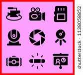 simple icon set of camera... | Shutterstock .eps vector #1138058852