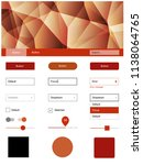 light red  yellow vector ui ux...