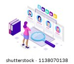 isometric hiring and... | Shutterstock .eps vector #1138070138