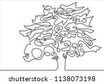 continuous line drawing of... | Shutterstock .eps vector #1138073198