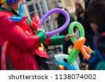 a freelance clown creating...   Shutterstock . vector #1138074002