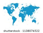color world map vector | Shutterstock .eps vector #1138076522