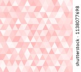 seamless triangle vector... | Shutterstock .eps vector #1138077698