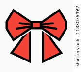 coloured outline woman ribbon...   Shutterstock .eps vector #1138079192