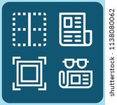 interface related set of 4... | Shutterstock .eps vector #1138080062