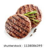 freshly grilled burger meat... | Shutterstock . vector #1138086395