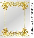 frame gold pattern flowers | Shutterstock .eps vector #1138088135