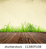 wood textured backgrounds in a... | Shutterstock . vector #113809108