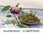 duretic  cherry tails medicine  ... | Shutterstock . vector #1138091642