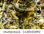 cup of tea lavender provence... | Shutterstock . vector #1138102892