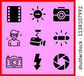 simple icon set of camera... | Shutterstock .eps vector #1138107992
