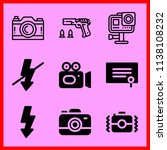 simple icon set of camera... | Shutterstock .eps vector #1138108232
