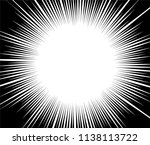 abstract radial zoom speed... | Shutterstock .eps vector #1138113722